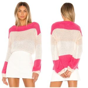 Lovers + Friends   Lynn Sweater Rose Pink Size XS